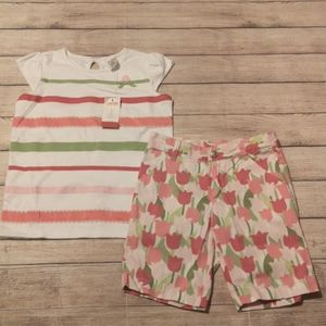 Gymboree Tulip Garden Matching 2 Piece Set